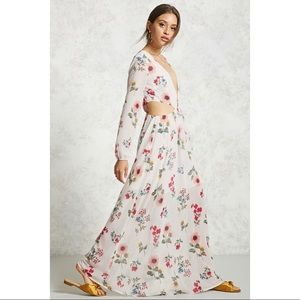 Forever 21 Floral Maxi Dress with cutouts